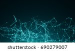 abstract connected dots on...   Shutterstock . vector #690279007
