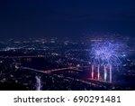 fireworks display festival in...   Shutterstock . vector #690291481