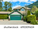 big family house with wide...   Shutterstock . vector #690309604