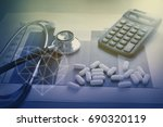 medical marketing and health...   Shutterstock . vector #690320119