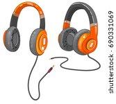 music  headphones  vector | Shutterstock .eps vector #690331069