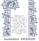 invitation with floral... | Shutterstock .eps vector #690339205