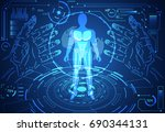abstract technology science... | Shutterstock .eps vector #690344131