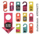 please do not disturb hotel... | Shutterstock .eps vector #690346375