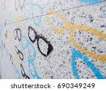 close up detail of colorful... | Shutterstock . vector #690349249