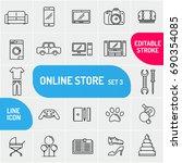 modern thin line icons goods... | Shutterstock .eps vector #690354085
