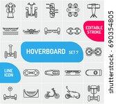 modern line self balancing... | Shutterstock .eps vector #690354805
