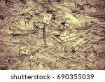 vintage processing. texture ... | Shutterstock . vector #690355039