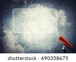 close of businesswoman making... | Shutterstock . vector #690358675
