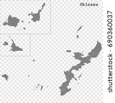 high quality map of okinawa is... | Shutterstock .eps vector #690360037