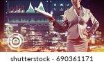 close view of businesswoman... | Shutterstock . vector #690361171