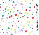 seamless pattern of... | Shutterstock .eps vector #690366397