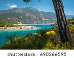 oludeniz beach and the blue... | Shutterstock . vector #690366595