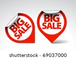 round labels   stickers for big ... | Shutterstock .eps vector #69037000