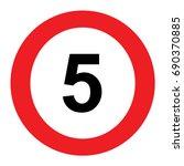 5 speed limitation road sign on ... | Shutterstock .eps vector #690370885