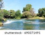 river trebizat in kupaliste... | Shutterstock . vector #690371491