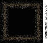 square golden powder frame or... | Shutterstock .eps vector #690377947