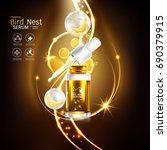 bird nest collagen serum and... | Shutterstock .eps vector #690379915