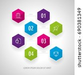 icon set and infographics.... | Shutterstock .eps vector #690381349