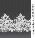 seamless withe vector lace... | Shutterstock .eps vector #690382225