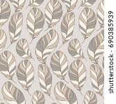 feather seamless pattern | Shutterstock .eps vector #690385939