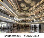 the new shopping mall in... | Shutterstock . vector #690392815