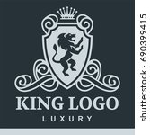 luxury boutique royal crest... | Shutterstock .eps vector #690399415