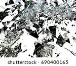 pieces of broken or shattered... | Shutterstock . vector #690400165