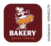 illustrated bakery logo | Shutterstock .eps vector #690401179