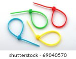 Cable Tie Or Ny Lock On A Whit...