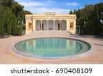 zoroastrian fire temple in yazd ...   Shutterstock . vector #690408109