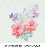 blooming flowers series 1  the... | Shutterstock . vector #690409225