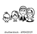 perfect family   retro clipart... | Shutterstock .eps vector #69042019