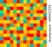 colorful squares. abstract... | Shutterstock . vector #690427255