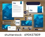 vector abstract stationery... | Shutterstock .eps vector #690437809