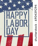 happy labor day. on grunge... | Shutterstock .eps vector #690439294