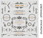 set of vintage decorations... | Shutterstock .eps vector #690441865