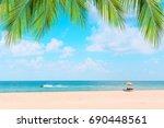 ka ron beach at phuket  ... | Shutterstock . vector #690448561