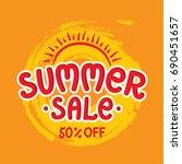 summer sale banner  poster on... | Shutterstock .eps vector #690451657