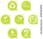 set of eco friendly  natural... | Shutterstock .eps vector #69046396