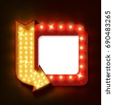 realistic 3d light background.... | Shutterstock . vector #690483265