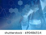 experiments in the laboratory | Shutterstock . vector #690486514