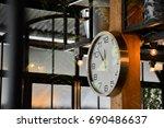 clock near noon | Shutterstock . vector #690486637