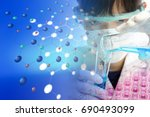 experiments in the laboratory | Shutterstock . vector #690493099
