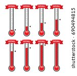 vector goal thermometers at... | Shutterstock .eps vector #690494815