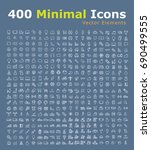 set of 400 universal icons ... | Shutterstock .eps vector #690499555