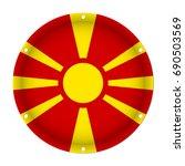 round metallic flag of... | Shutterstock .eps vector #690503569