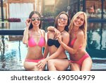group of friends together in...   Shutterstock . vector #690504979