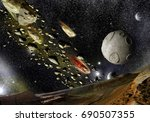 a view from of the planet... | Shutterstock . vector #690507355