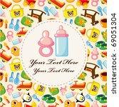 baby card | Shutterstock .eps vector #69051304